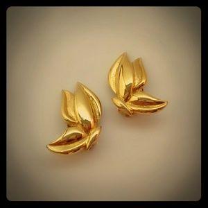 Vintage LCI Butterfly Clip-On Earrings